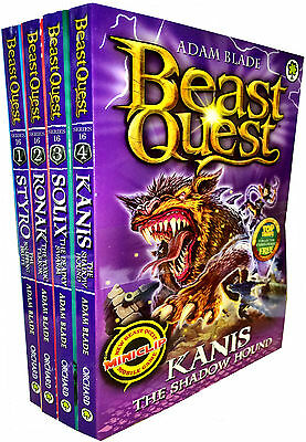 Beast Quest Series 16 Collection 4 Books Set (87 to 90) Kanis the Shadow Hound