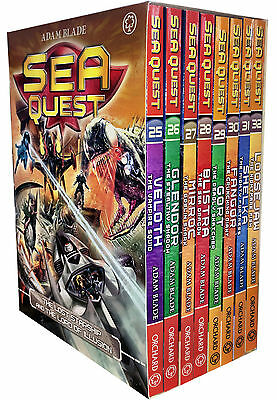 Sea Quest Series 7 and 8 Collection Adam Blade 8 Books Box Set Pack Veloth, Gort