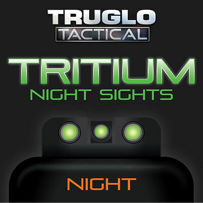 TRUGLO Brite-Site Tritium Handgun / Pistol Night Sights  Green FITS S&W M&P Set