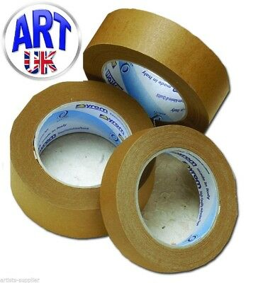 Artists Picture Framers Self Adhesive Brown Tape 50 metre Roll 25/38/50mm widths