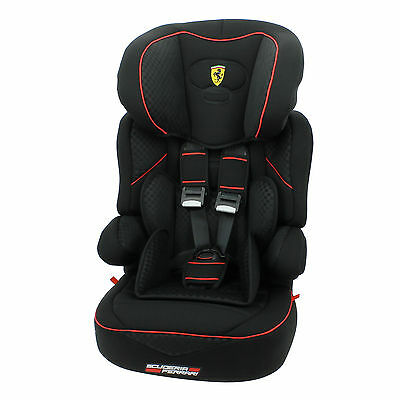 New Ferrari Beline Sp Group 123 Car Seat Black Suitable From 9Months - 11Years