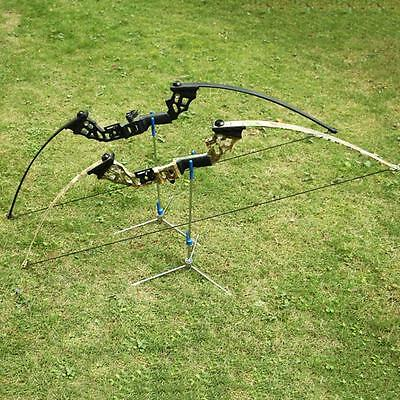40lbs Archery Takedown Shooting Longbow Hunting Fishing Straight Bow Arrow Rest