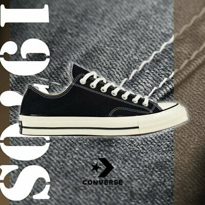 Converse Chuck Taylor All Star Low 1970s 70 Black First String OG Label 144757C