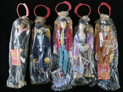 Lupin the Third 3rd III Plush Doll Figure Complete set of 5 Banpresto Vintage