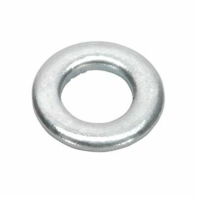 Sealey Flat Washer M5 x 10mm Form A Zinc DIN 125 Pack of 100 FWA510