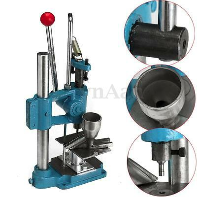 Tablet Press Machine Manual Powder Pill Making Maker + Arc Mould For Lab Use New