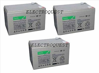 3 X 12V 15AH Battery Electric Bikes Electric Scooter Uprated 12AH