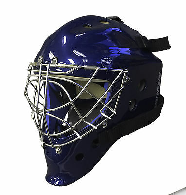 New Vaughn 9500 Cat Eye goal mask navy senior medium ice hockey goalie helmet M