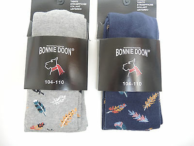 Bonnie Doon Strumpfhose Birds of a Feather Tights Farbwahl Gr.104-146  NEU
