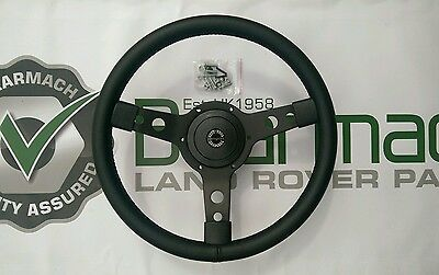 Land Rover Defender 90, 110, 14 inch Steering Wheel With 48 Spline adapter 149
