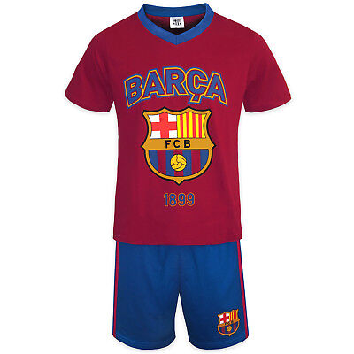 FC Barcelona Official Football Gift Boys Short Pyjamas