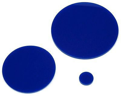 Blue Laser Cut Plastic Circles 3Mm Thick Acrylic Discs + Film