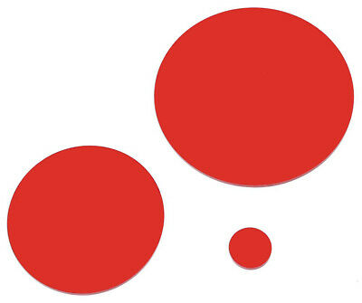 Red Laser Cut Plastic Circles 3Mm Thick Acrylic Discs - Perspex Plexiglass