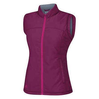 ADIDAS Womens Magenta ClimaWarm Sleeveless Golf Wind Vest Gilet XL 16 BNWT