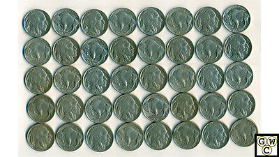1935-36-37 Buffalo Nickels Very Fine/Extra Fine--Extra Fine/About Fine(40 Coins)