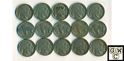 1938-D  Very Good-Very Fine (Lot of 15 coins)