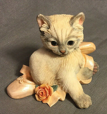 02224 kitten w ballet slipper NEW IN BOX CAT FIGURINE COUNTRY ARTISTS COLLECTION
