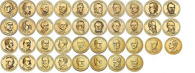 Complete Date Set of Presidential One Dollar Coins with Album 2007 to 2016