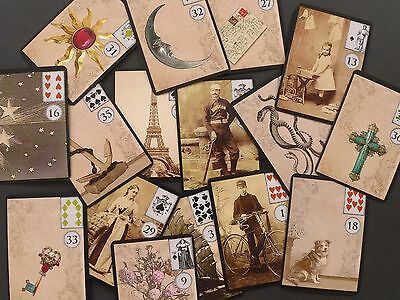 The Vintage Lenormand Fortune Telling Oracle Cards Deck Non Tarot