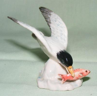 Klima Miniature Porcelain Bird Figure Albatross with Fish E387
