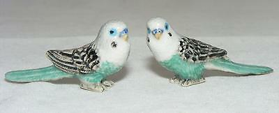 Klima Miniature Porcelain Pair of Budgerigars Turquoise X860