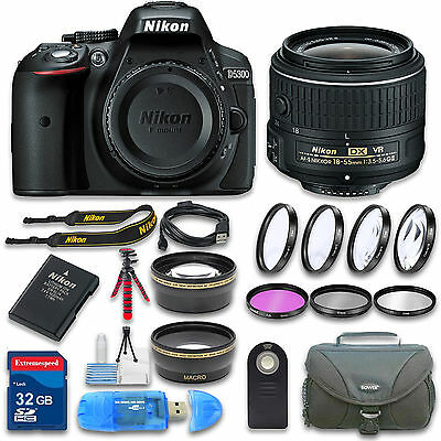 Nikon D5300 DSLR Camera (Black) with 18-55mm VR Lens and Accessories