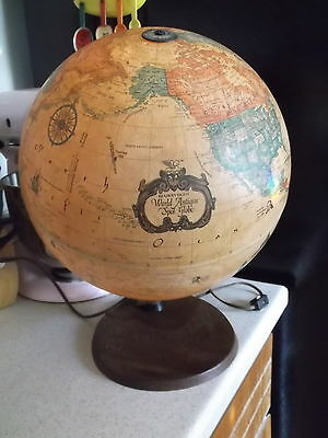 Vintage Readers Digest World Antique Spot Globe- Very Unique