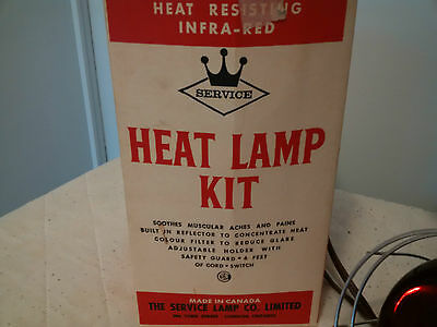 vintage infra red heat lamp clamp fixture safety guard healing zoo bulb medicine
