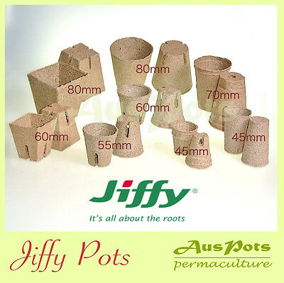 Jiffy Pots - Sample Pack - ( Total 32pcs ) Propagation, Seedling, Herbs, Veggie