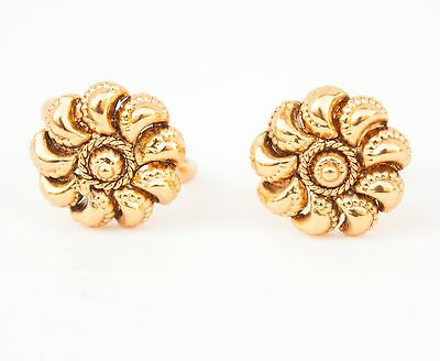 Bollywood Indian Ethnic Gold Plated Flower Shape Resizable Toe Ring