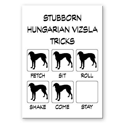HUNGARIAN VIZSLA Stubborn Tricks FRIDGE MAGNET New DOG