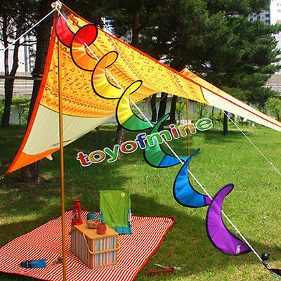 New Rainbow Spiral Windmill Colorful Wind Spinner Tent Garden Home Decorations