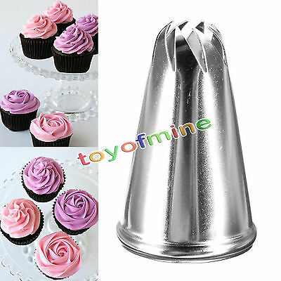 Drop Rose Flower Icing Piping Tips Nozzle Cake Cupcake Decorating Pastry Tool