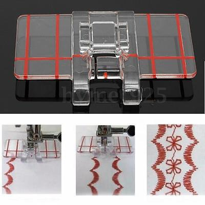 1PCS Clear Parallel Stitch Foot Presser For Brother For Singer Sewing Machine