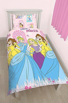 Single Bed Duvet Cover Set Princess Boulevard Pink Yellow Girls Bedding Set