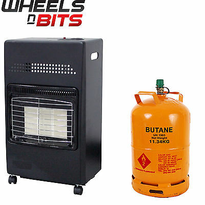 UK & Ireland Portable Home Butane Fire Calor Gas Cabinet Heater 35mm Regulator