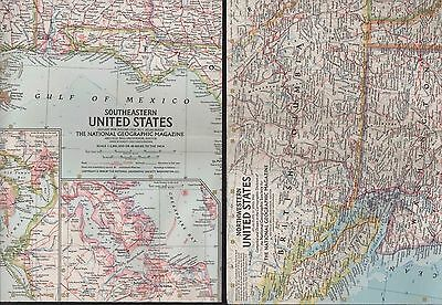 NG. Maps. United States (Southeastern 1958) (Northwestern April 1960)  (ZT.15)