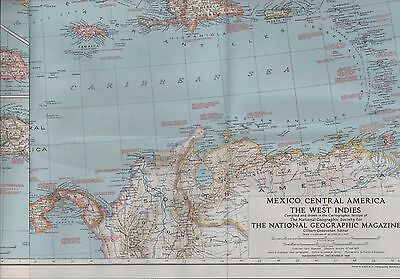 Large NG. Map. 1939 MEXICO Central America - The West Indies   (ZT.20)