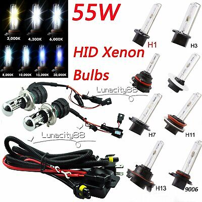 55W Xenon HID Conversion Replacement Headlight Slim Ballast H1 H3 H7 H8/H9/H11 H