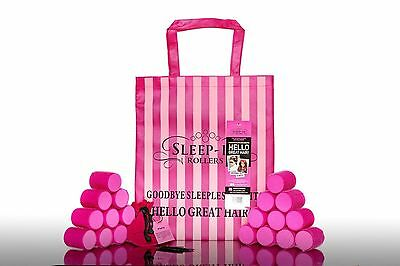 Sleep in Rollers Mega Bounce 5.5cm | 20 x Pink Soft Curlers