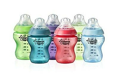 Tommee Tippee Closer to Nature Fiesta Bottle, 266ml, 6 Count