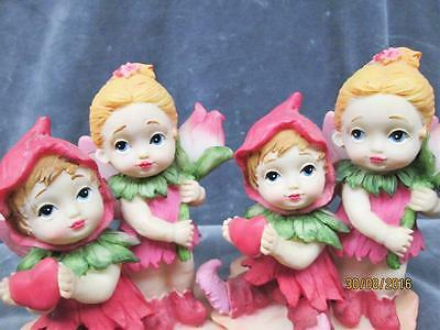 """2 Valentine's Day Fairies- """"i Only Have Eyes For You"""" Figures"""