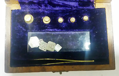 Rare Vintage The Weights With Wooden Box West Bengal Excise