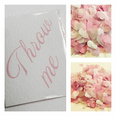 Pastel pink & white heart wedding confetti-throw me - decorations -biodegradable