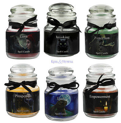 Lisa Parker Scented Spell Candles: Set of 6 * Pagan Wicca Cat Wolf