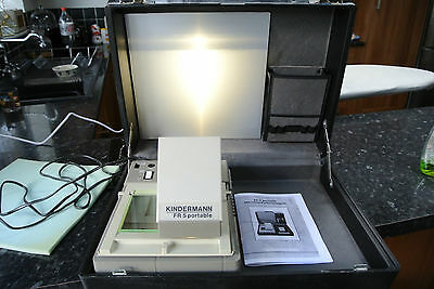 Kindermann FR5 Portable Mini Suitcase Micro Fiche MicroFilm Reader