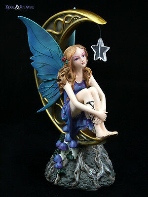 "Lisa Parker Statue Figurine: ""Light of the Moon"" Fairy with Moon and Star"