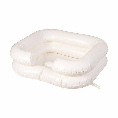 DMI Deluxe Inflatable Bed Shampooer Basin, White easy to wash a person's hair