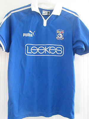 Cardiff City 2002-2003 Home Football Shirt Size Small Adult /40701