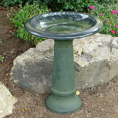Tierra Garden Fiber Clay Bird Bath